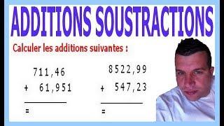 Maths 6ème - Additions et soustractions de nombres décimaux Exercice 9