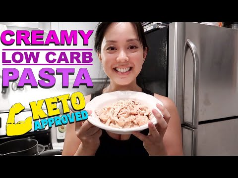 Cook With Me Low Carb Creamy Shrimp Pasta