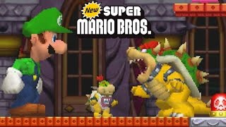 New Super Mario Bros. DS - All 8 Worlds - Full Game (All Star Coins)