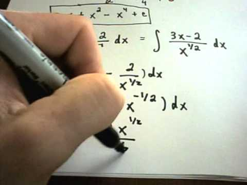 patrickJMT - Basic Integration of Indefinite Integrals. For more free math videos, visit http://PatrickJMT.com.