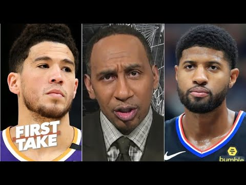 First Take   Stephen A. goes crazy MVP Devin Booker fires 25 Pts lead Suns crush Clippers in Game 4