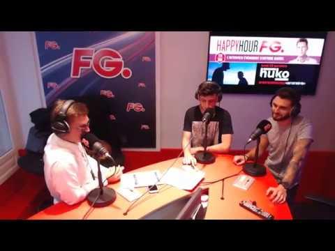 HUKO en interview sur Radio FG dans l'HappyHour de Antoine BADUEL