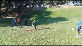 Treinamento de goleiros na Quinta da Boavista aos sábados