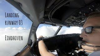 Video Approach and landing runway 03 Eindhoven Airport (EIN EHEH) MP3, 3GP, MP4, WEBM, AVI, FLV Oktober 2018