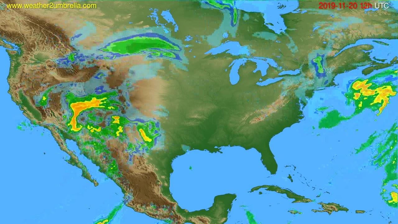 Radar forecast USA & Canada // modelrun: 00h UTC 2019-11-20