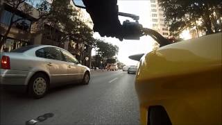 3. Riding a 2014 Zero S (11.4) electric motorcycle in Downtown Austin, Texas.