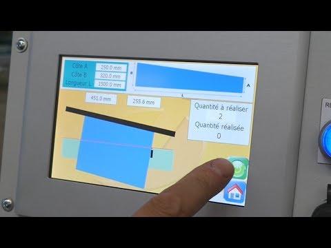 Cisaille avec butée arrière électrique orientable