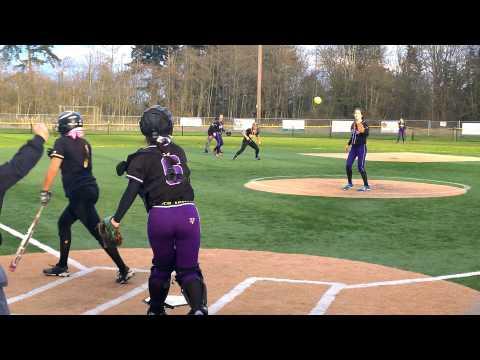 Lake Washington vs. Inglemoor High School softball 2014