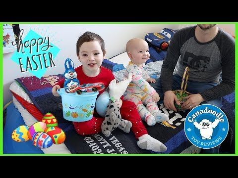 Easter Morning Celebration with Canadoodle Toy Reviews! Easter Egg Hunt + Easter Surprise Toys