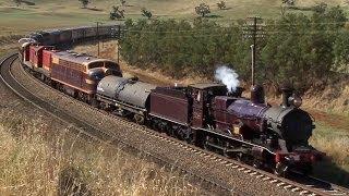 Galong Australia  city photo : Steam Train to the Riverina - 3265 to Junee: Australian Trains