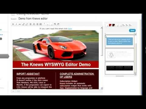 Knews WYSIWYG Editor Demo: A WordPress Newsletter Plugin