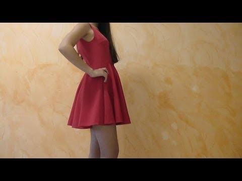 como hacer un vestido - Es un vestido muy ponible para cualquier ocasión y fácil de hacer, aprendes a cortar falda de capa a medida, podrás hacer los patrones tu misma, gracias por ...