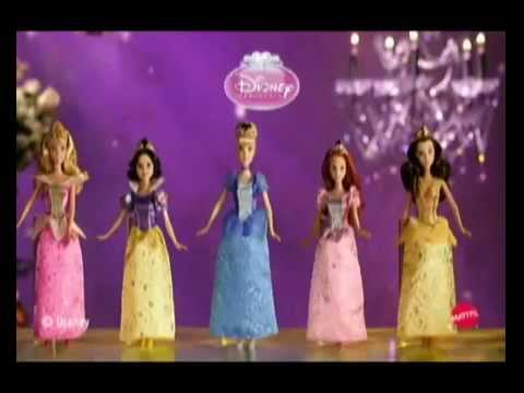 Disney Princess Glitter MATTEL Dolls Commercial