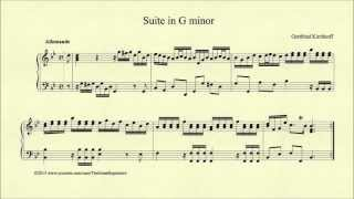 Gottfried Kirchhoff, Suite in G minor, Piano