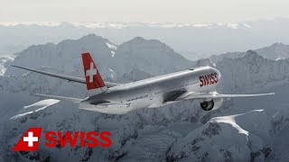 Enjoy spectacular scenes and close-ups of SWISS's new flagship, the Triple Seven, flying over the majestic, snow-capped Swiss ...