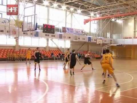 На центральной спортивной арене прошли игры первенства области по баскетболу среди юношей
