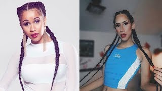 Makeup inspired by CARDI B and I try to speak in English (Asco mi ingles) xd - Jaden vanss
