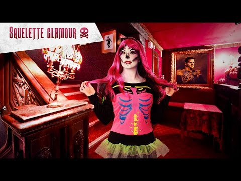 Tutoriel makeup Halloween : le squelette glamour