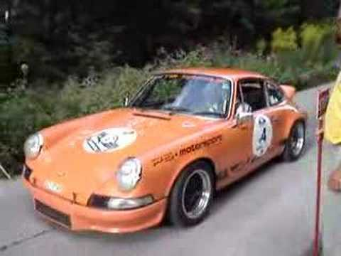 Porsche 911 RS starting on a Special Stage