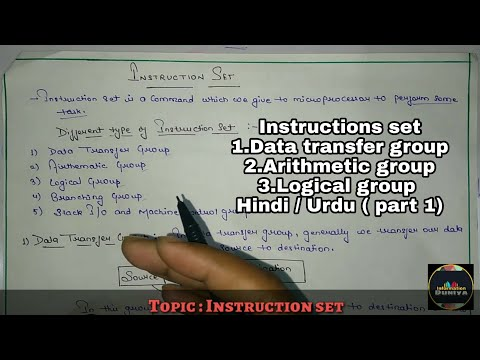 Instructions set || instructions set in hindi / Urdu || microprocessor || part 1|| Informationduniya