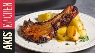 Lemon Roasted Pork Chops  | Akis Kitchen by Akis Kitchen
