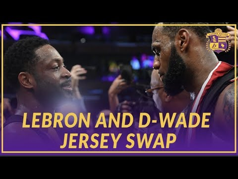Video: Lakers Highlights: LeBron James & Dwyane Wade Swap Jerseys After Their Last Game Against Each Other
