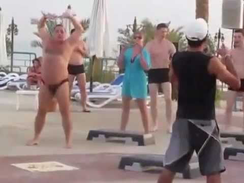 Fat Guy In A Speedo Has Sweet Dances Moves
