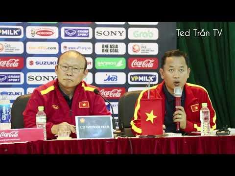 Thầy Park bức xúc với phóng viên hỏi về phong độ Quang Hải, phàn nàn về VFF - Thời lượng: 16 phút.