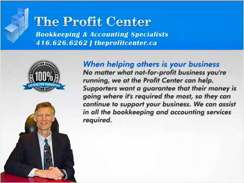 Bookkeeping Services | Not for Profit  | theprofitcenter.ca