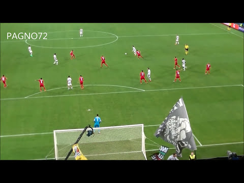 juventus - siviglia 2-0 il gol di morata live dalla curva