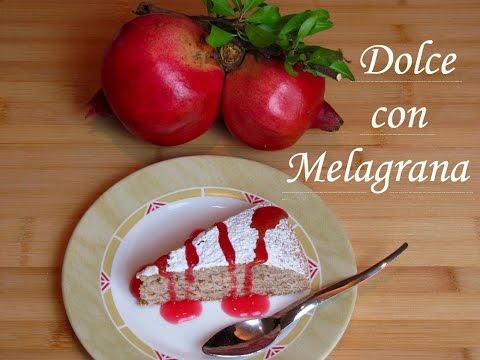 dolce con melagrana - ricetta