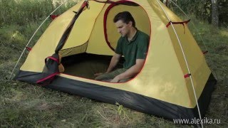 Универсальная четырехместная туристическая палатка с двумя входами, двумя тамбурами и ветрозащитной юбкой. Alexika Rondo 4 Plus
