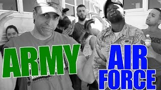 SUBSCRIBE! ► ►  http://bit.ly/2kmzNKwDrew (Army Combat Veteran) decided to rap battle a Sr. Airman which led to an amazing unanimous victory! Who should he battle next?PRE-ORDER ALBUM: https://itunes.apple.com/us/album/r-e-d/id1226245250Facebook: https://www.facebook.com/acombatveteranInstagram: https://www.instagram.com/acombatveteranSnapchat: A Combat VeteranWebsite: https://www.acombatveteran.comTwitter: https://www.twitter.com/acombatveteran