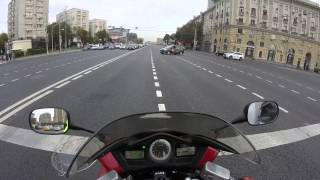 10. Honda VFR 800 abs, Moscow 2015, acceleration 0-150