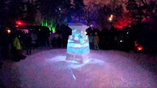 【青森県】雪灯篭とプロジェクションマッピングの融合がとてもきれい!!