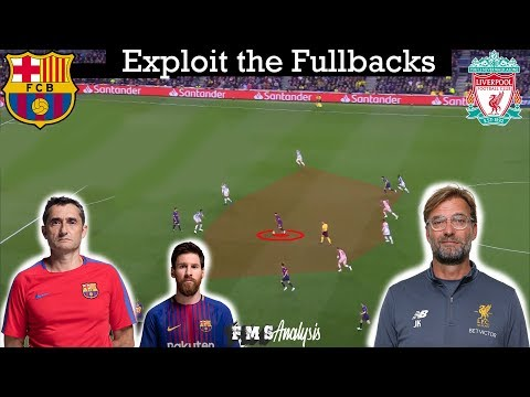 Tactical Analysis | Barcelona 3-0 Liverpool | Goals (Messi Freekick, Suarez) |Exploit The Fullbacks