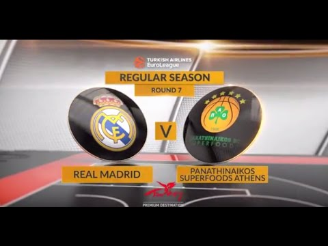 EuroLeague Highlights RS Round 7: Real Madrid 87-84 Panathinaikos Superfoods Athens