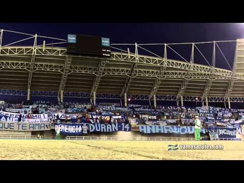 """""""Nos dicen que estamos mal de la cabeza"""". Águilas - Emelec. 19/08/2014 - Boca del Pozo - Emelec"""