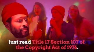 "Y'know how Marvin Gaye's family sued Robin Thicke and Pharrell Williams because ""Blurred Lines"" sounded kinda similar to ""Got to Give It Up"". Well they can't sue us for making a song that sounds exactly like ""Got to Give It Up"" because parody is fair use!This song is on our 2016 album ""Viva La Vida Loca Las Vegas"", available on iTunes https://itunes.apple.com/au/album/viv...LyricsIf you write your own musicThat has a similar soundTo something somebody else had writtenIt might get aroundAnd then the lawyersWill sue you for a huge feeIt could be up to $7,000,000 babySo take it from meMake sure you always remember this one thing above allParody is fair use baby so just copy it allAs long as it's original, there's always a chanceIt'll sound like something already written And they'll sue the pants - off - youUsed your music! Ooh! Marvin! And that's alrightIt's perfectly legal, fuck your copyrightWhy do you think that this genre belongs to you?!There's so many Blurred Lines, but this is fair useYou live in a glass house, you shouldn't throw bricksJust read Title 17 Section 107 of the Copyright Act of 1976We didn't even sample, I made this music myselfNo I won't be accused of being thick, unlike somebody elseI think it's ironic they paid homage to youAnd they're the ones you took to court, But it's us you can't sueUsed your music! Ooh! Marvin! And that's okayIt comes under fair use baby, so we'll never payCreditsDirector: Alex Gabbott (cosmicrebel.net)Producer: Kara SchleglDOP: Jack CrombieMarvin Gaye as himselfLawyer: Ben JenkinsBackup Dancers: Rubee Sookee, Fran MiddletonDance Party: Charlotte Goodsir, Sebastian Hernage, Bish Marzook, Atlas Adams, Lucy Hiley, Ellen Robson, Joe Knights, Ally CanasSpecial thanks to Edan Lacey"