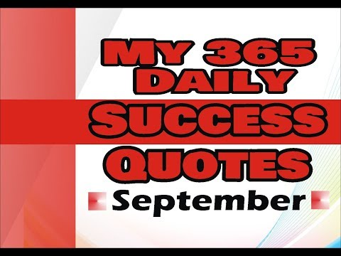 My 365 Daily Success Quotes September 30