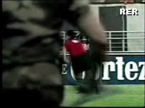 Fan attacks referee - Big mistake