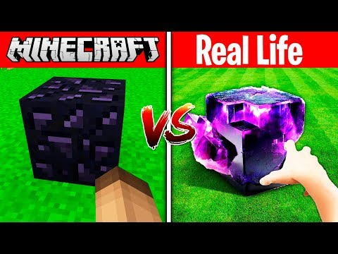 MINECRAFT OBSIDIAN IN REAL LIFE! (Minecraft vs Real Life)