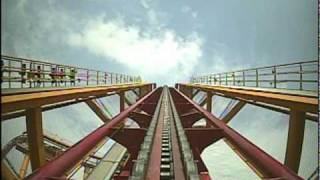 Rollercoaster ride at ChimeLong Amusement Park, GuangZhou 广州
