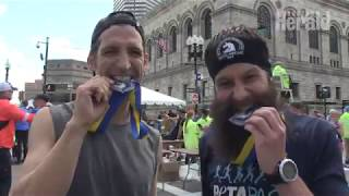 Boston Marathon runners embrace rollercoaster conditions in 2019 race
