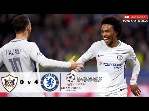 Qarabag vs Chelsea 0-4 UCL - All Goals & Highlight 23-11-2017