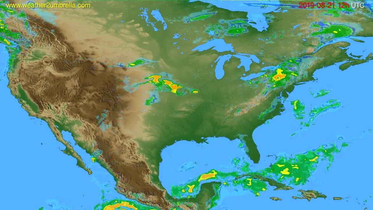 Radar forecast USA & Canada // modelrun: 00h UTC 2019-08-21