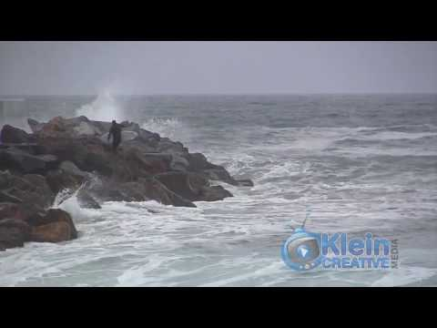 Redondo Beach Breakwall March 1, 2014 Klein Creative Media Footage  310-990-4120