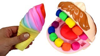 Video Hungry Play Doh Dentist Doctor Drill n Fill Learn Fruits Squishy Ice Cream Cake & Kinder Surprise MP3, 3GP, MP4, WEBM, AVI, FLV Agustus 2017