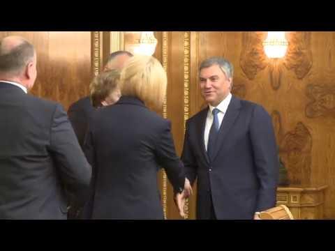 Igor Dodon a avut o întrevedere cu Veaceslav Volodin, Preşedintele Dumei de Stat a Federaţiei Ruse