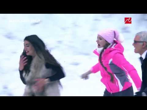 رامز تحت الصفر  ياسمين صبري تواجه موقف مرعب أمام دب رامز جلال في روسيا